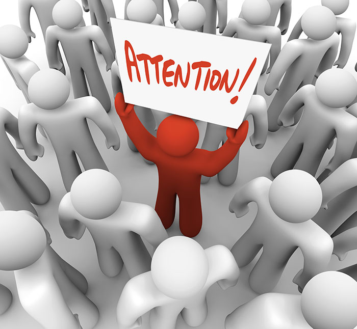 Red attention sign