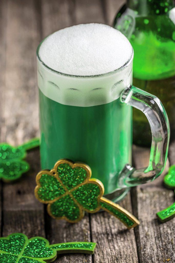 Green beer in Ireland