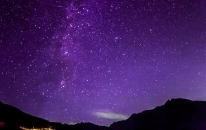 Purple starry night