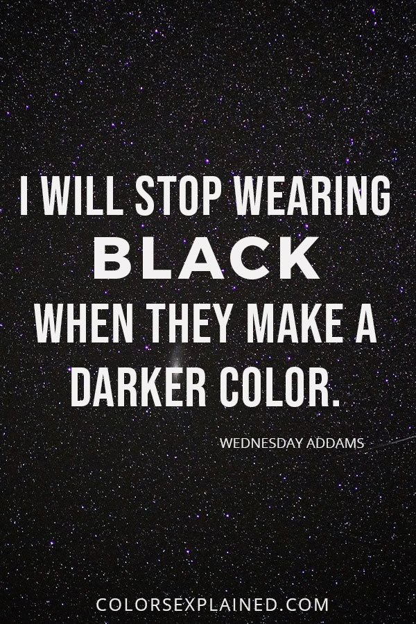 Quote about black