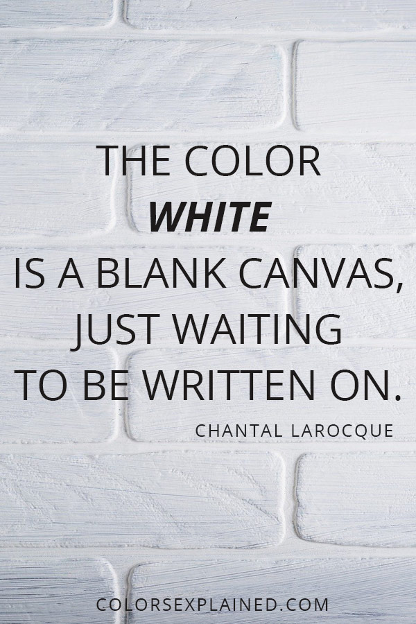 Quote about white