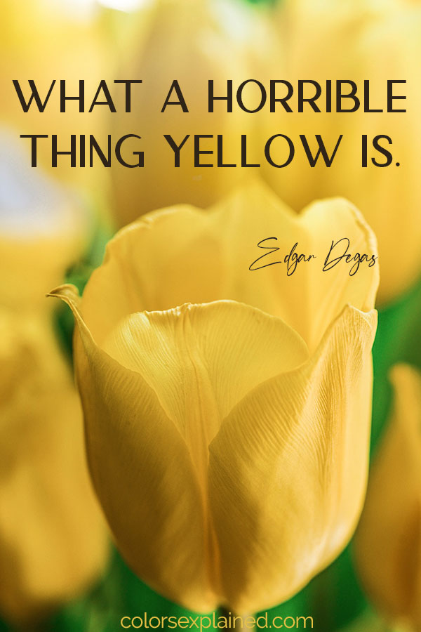 Quote about yellow