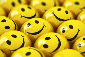 Yellow means happiness, smileys