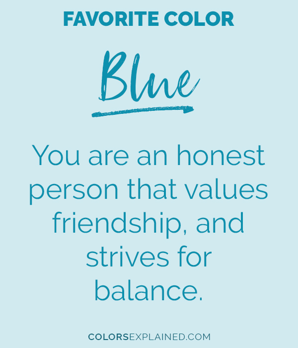 Favorite color blue personality