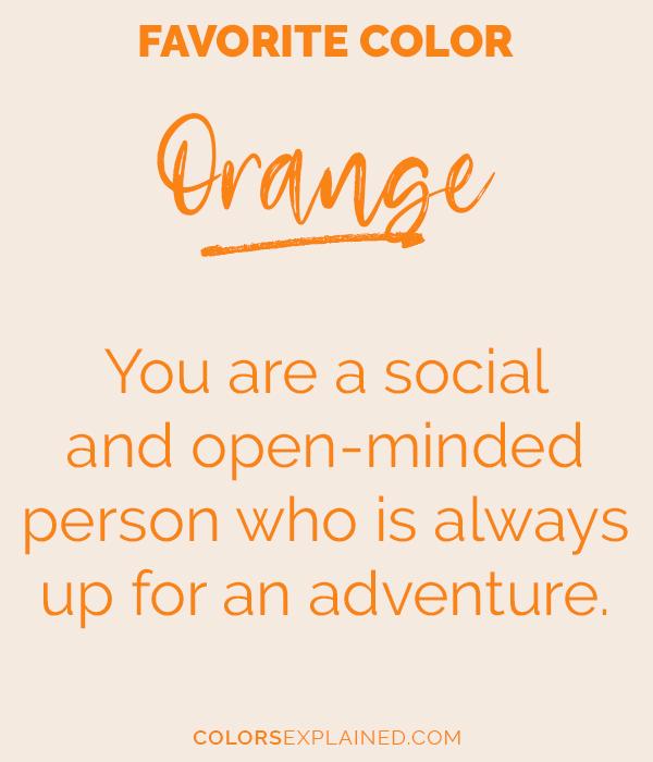 Favorite color orange personality