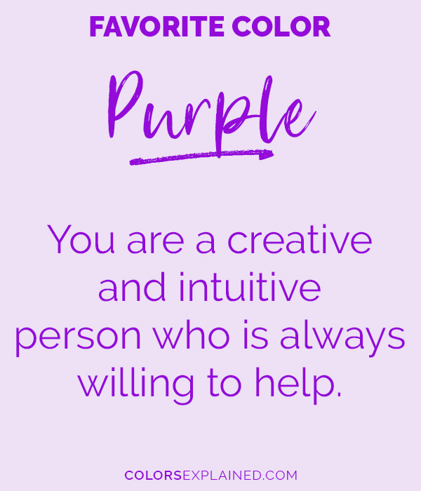 Favorite color purple personality