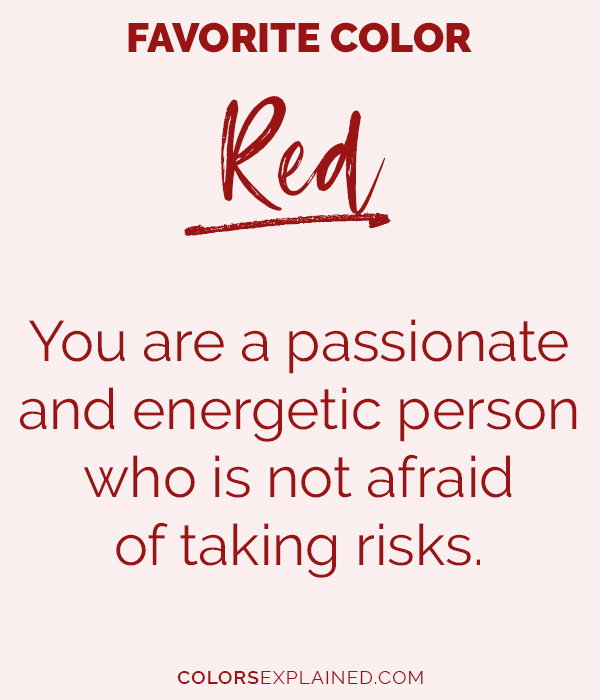 Favorite color red personality