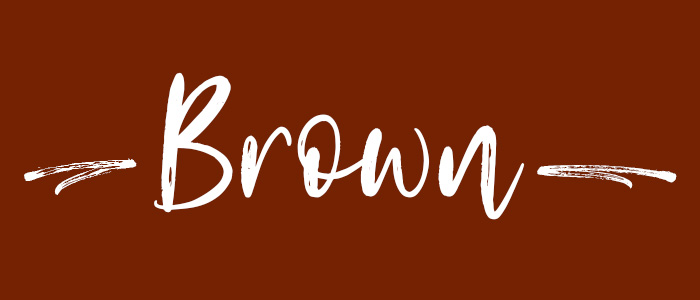 Brown subheader