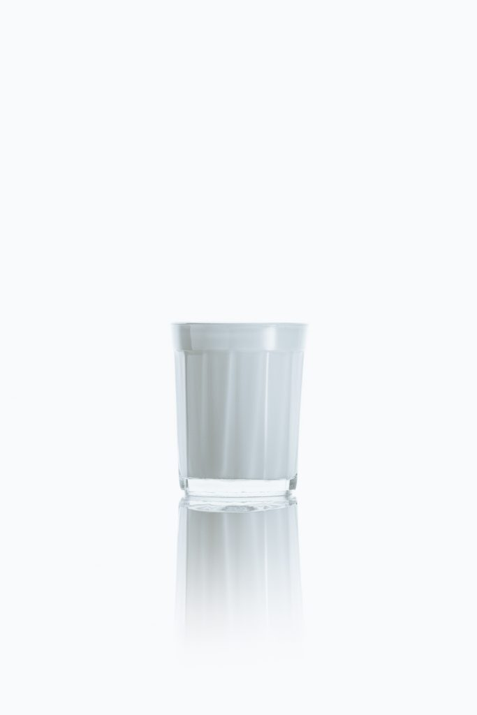 White glass of milk