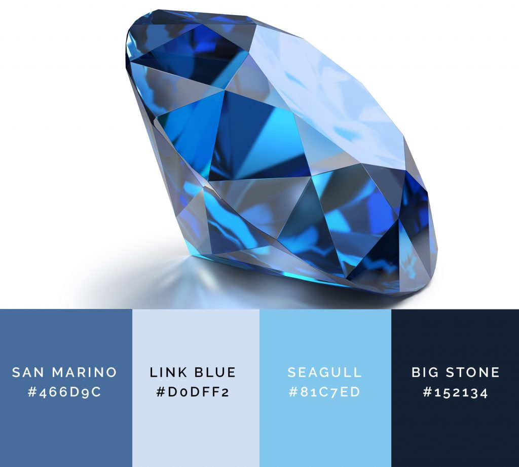 Sapphire has classy shades of blue color