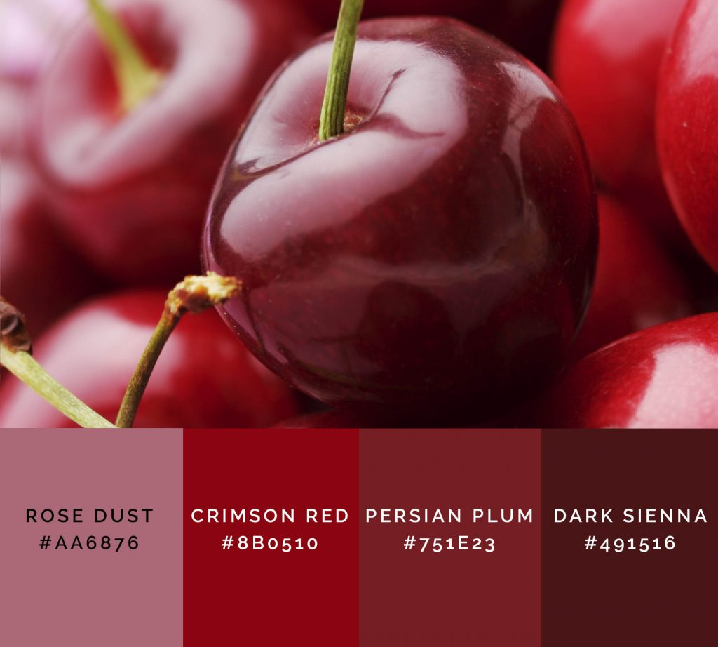Cherry palette has shades of red