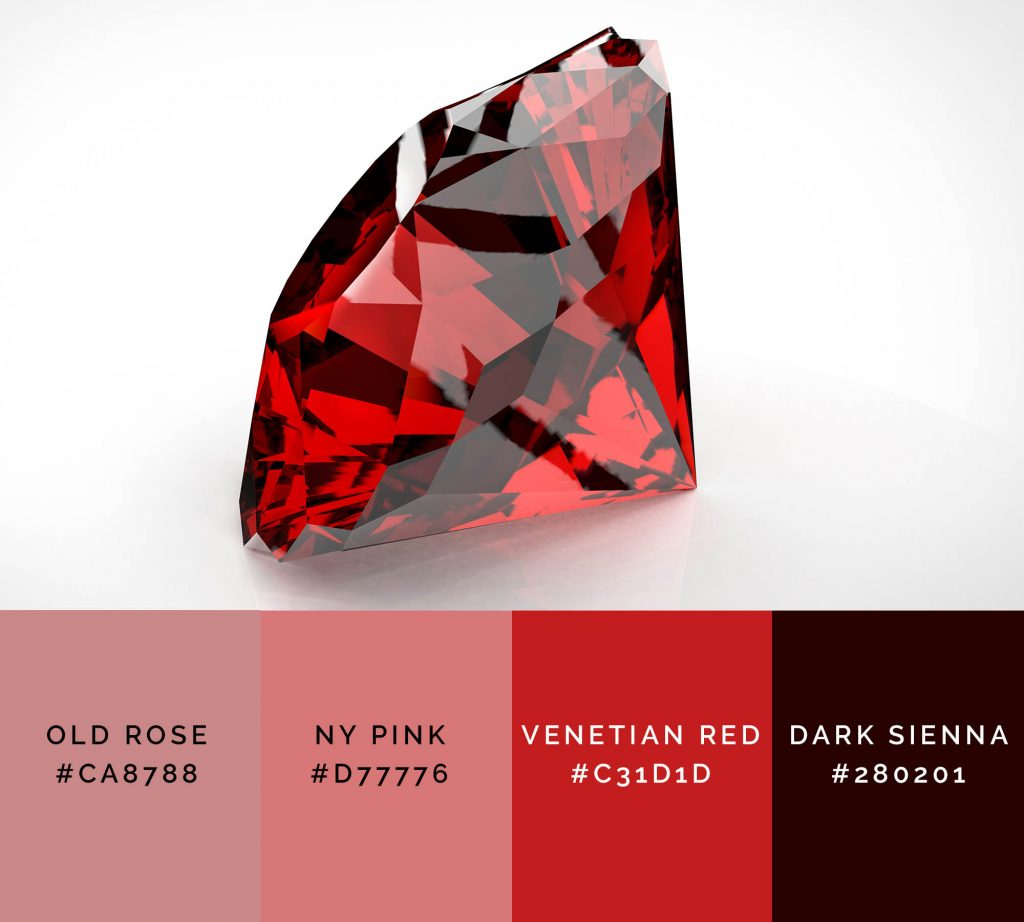 Ruby palette has shades of red color