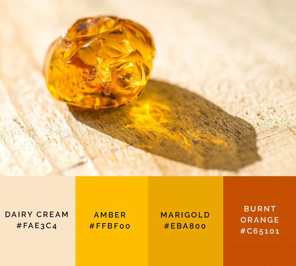 Amber palette has shades of yellow color