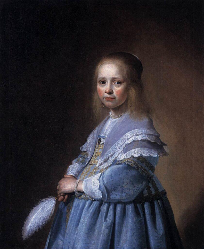 Portrait of a Girl in Blue Dress