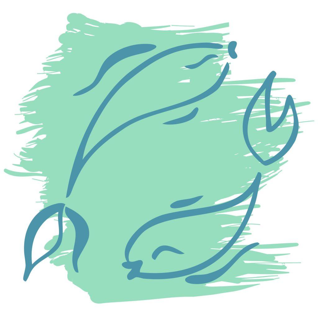 Pisces color aquamarine sign