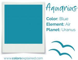 Aquarius color blue chart