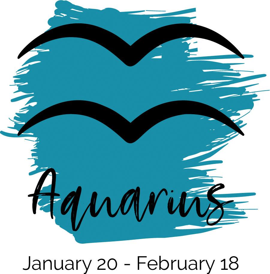 Aquarius color blue symbol