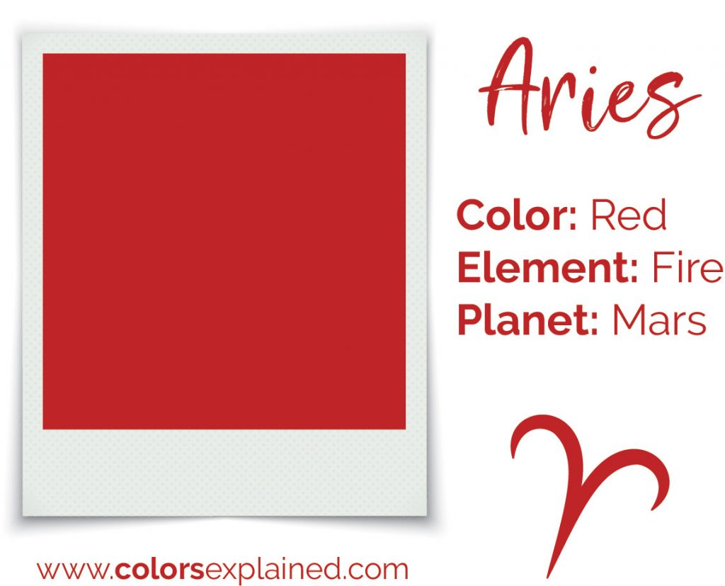 Aries color red chart