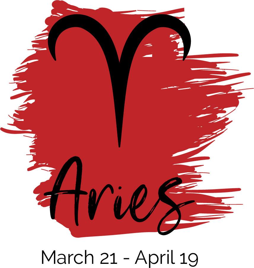 Aries color red symbol
