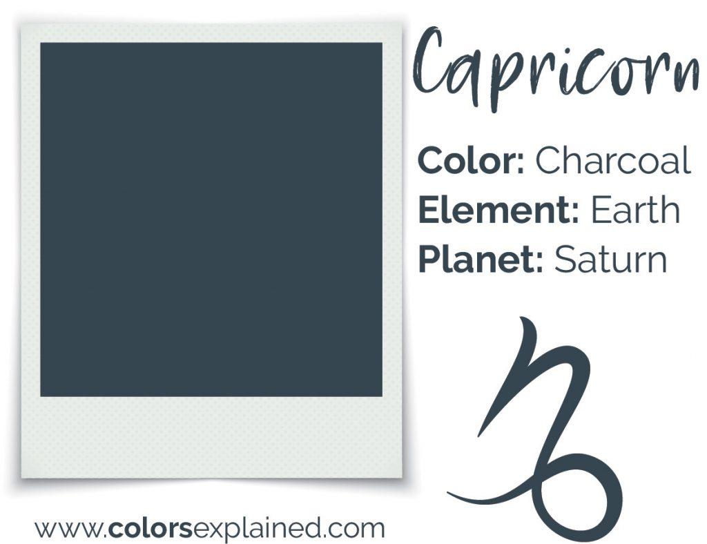 Capricorn color charcoal gray chart
