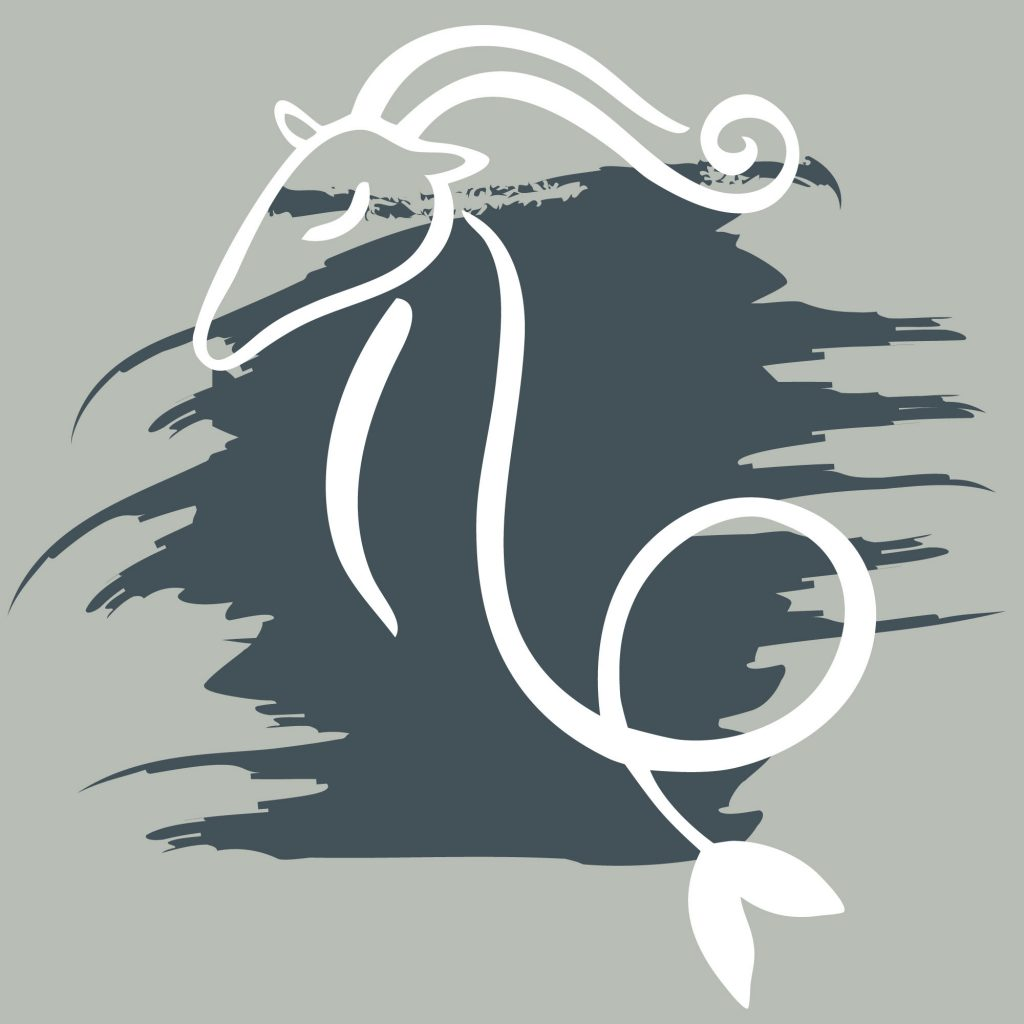 Capricorn color charcoal gray sign