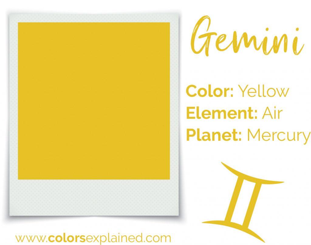 Gemini color yellow chart