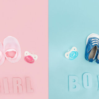 Pink for girls, blue for boys