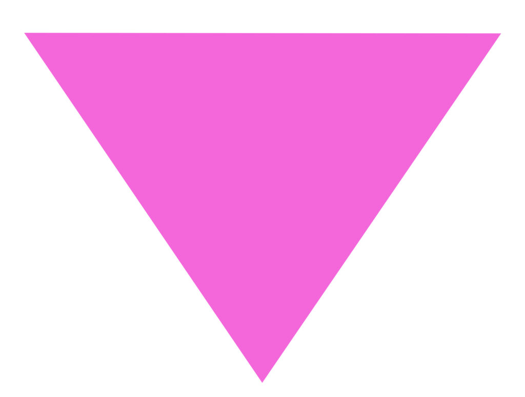 Inverted pink triangle