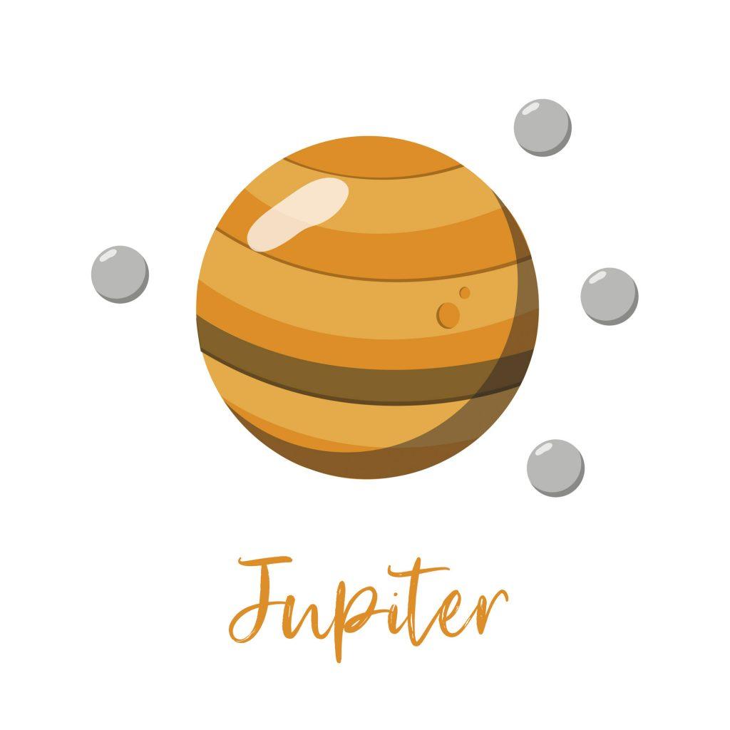 Jupiter, the yellow planet