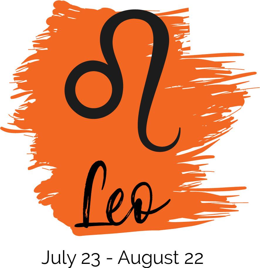 Leo color orange symbol