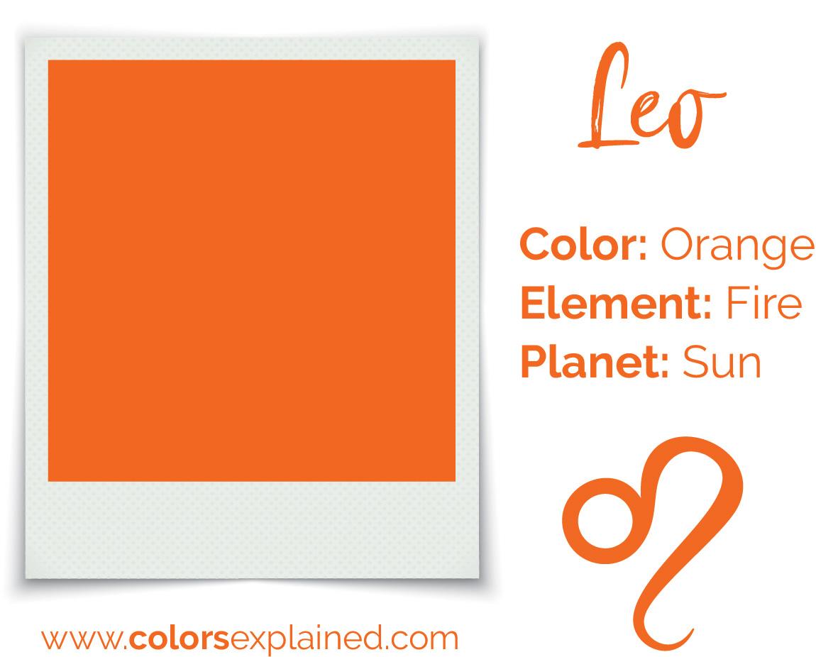 Leo color orange chart