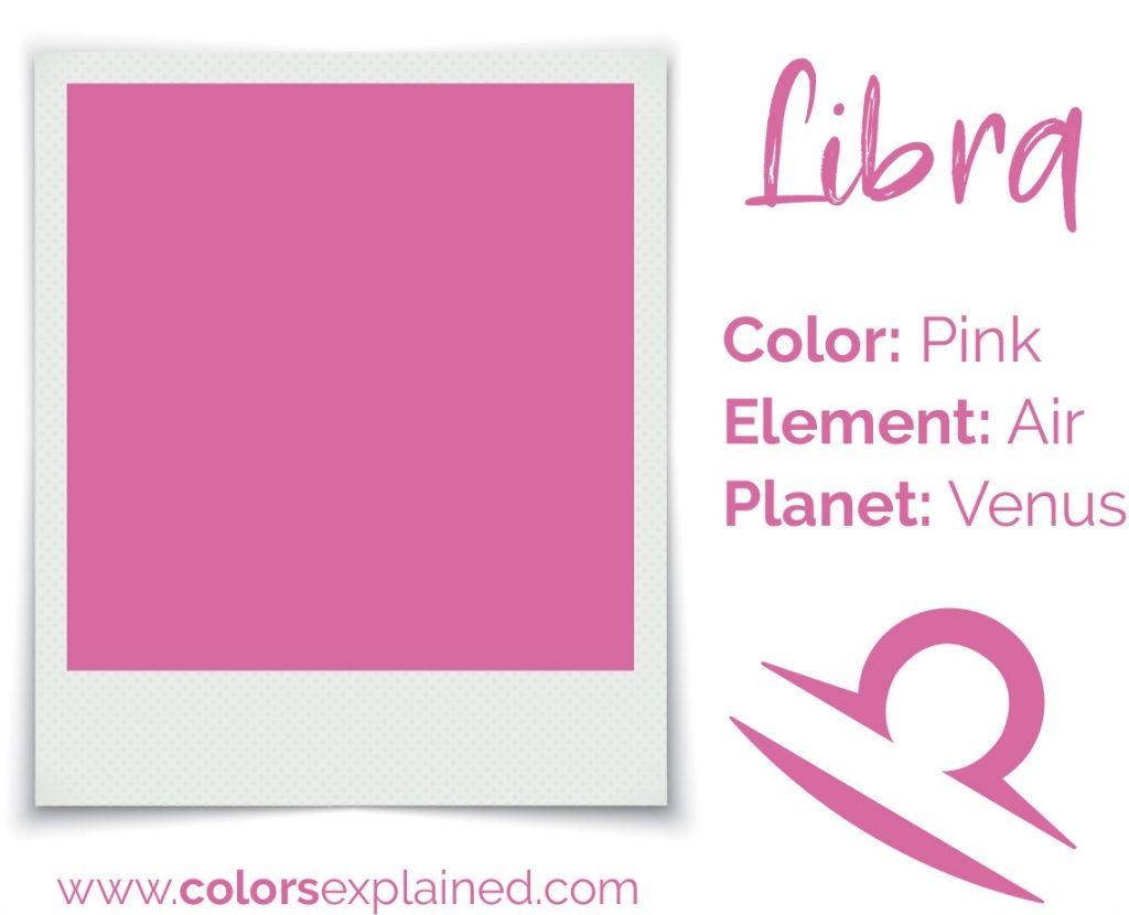 Libra color pink chart
