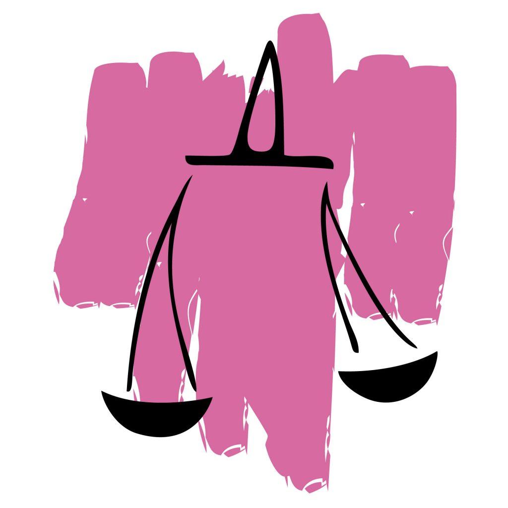 Libra color pink sign