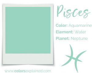 Pisces color aquamarine chart