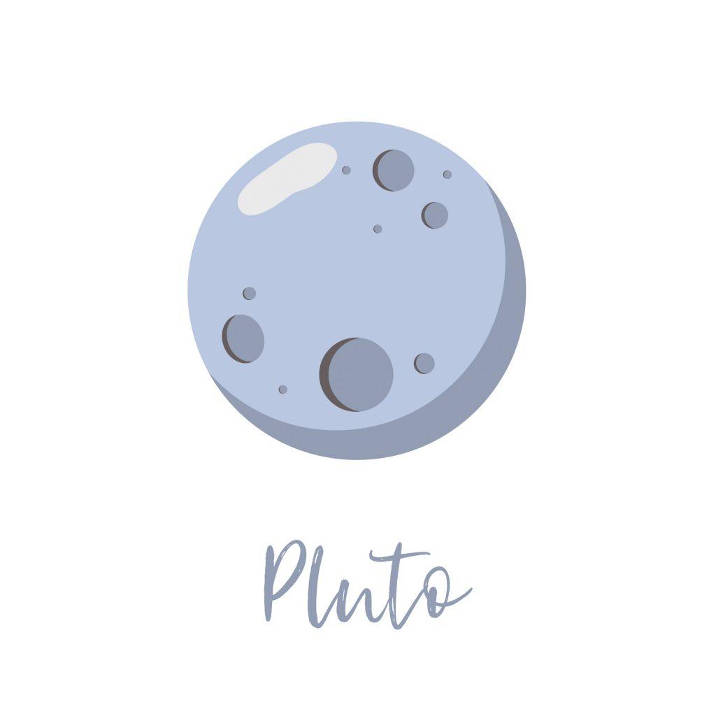 Pluto, the light blue planet
