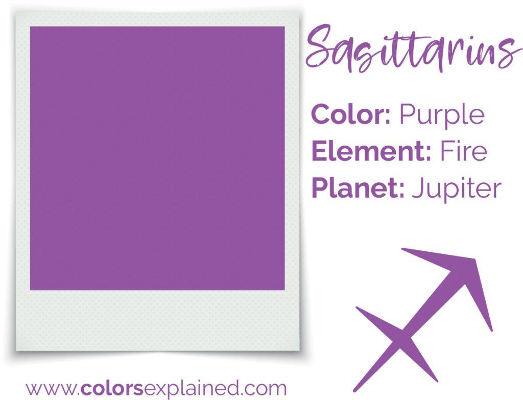Sagittarius color purple chart