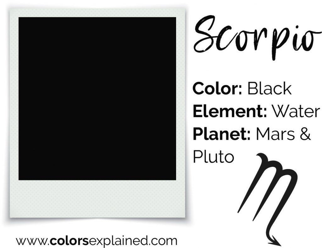 Scorpio color black chart