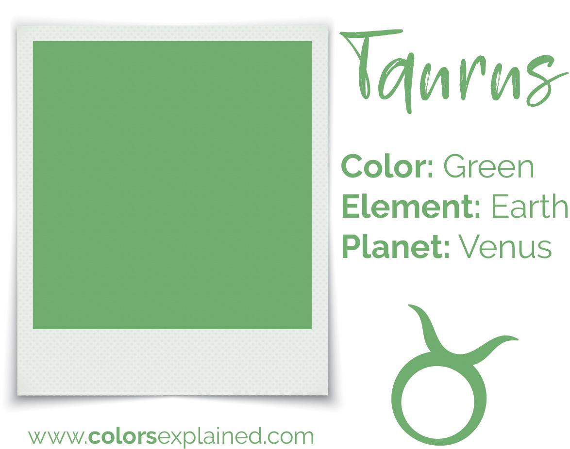 Taurus color green chart