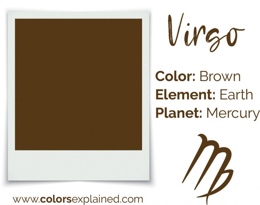 Virgo color brown chart