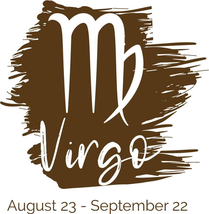 Virgo color brown symbol