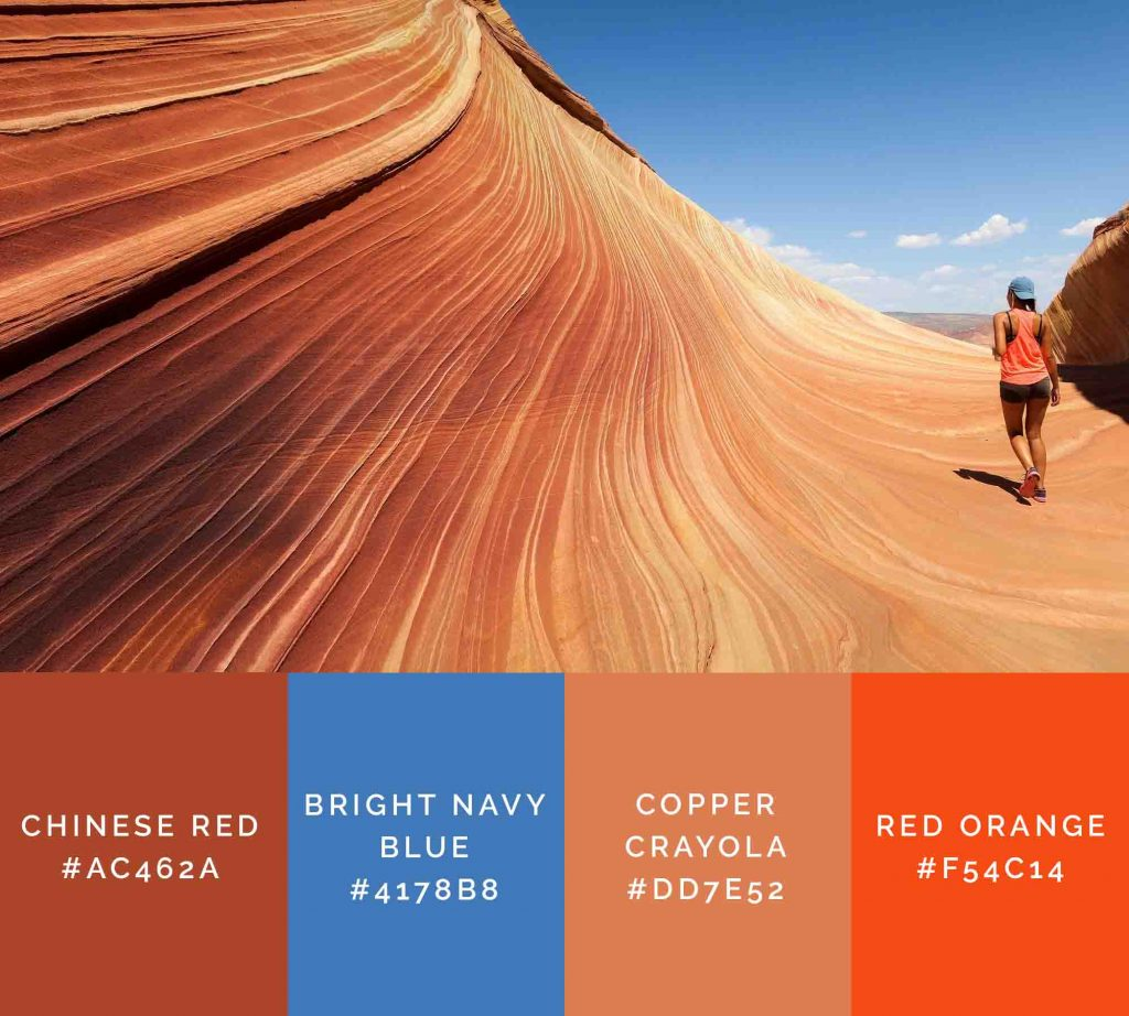 Canyon palette has beautiful shades of orange color
