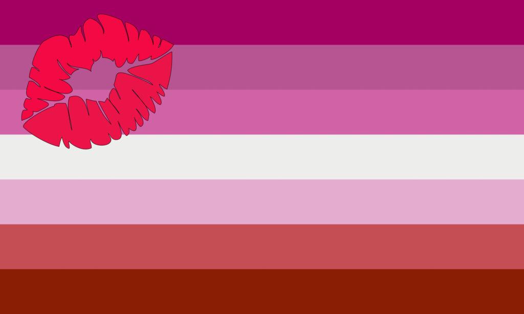 Lipstick Lesbian Flag