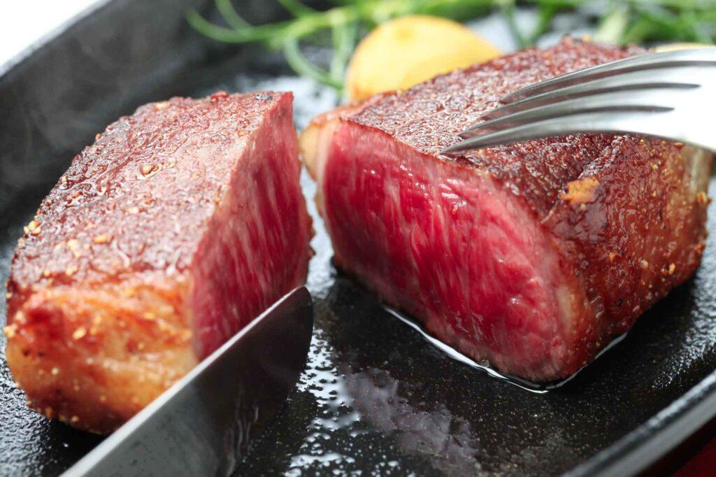 Red beef steak
