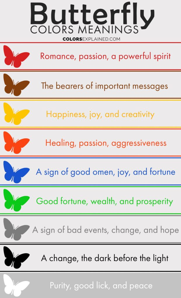 Butterfly colors meaning chart