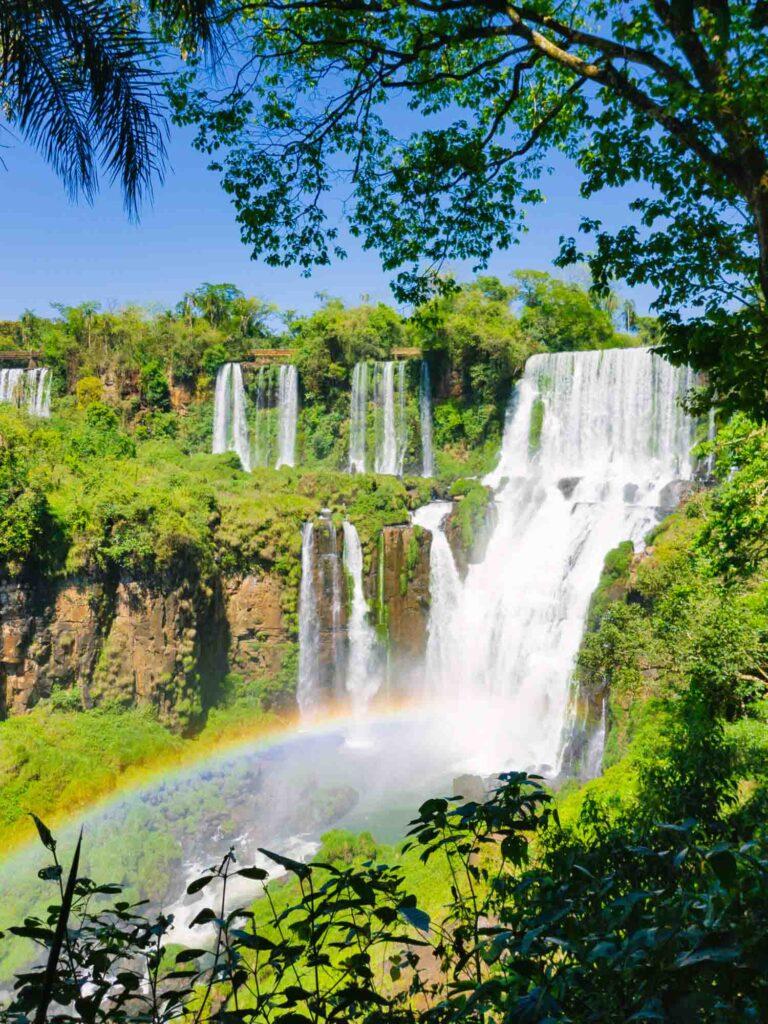 Rainbow at Iguazu Falls, Brazil