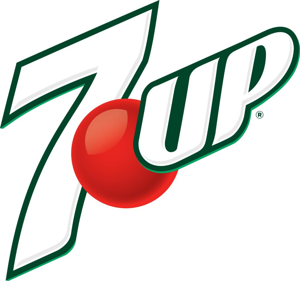 7up logo using complementary colors