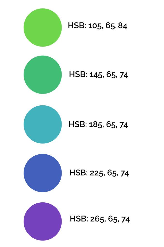How to create an analogous color scheme