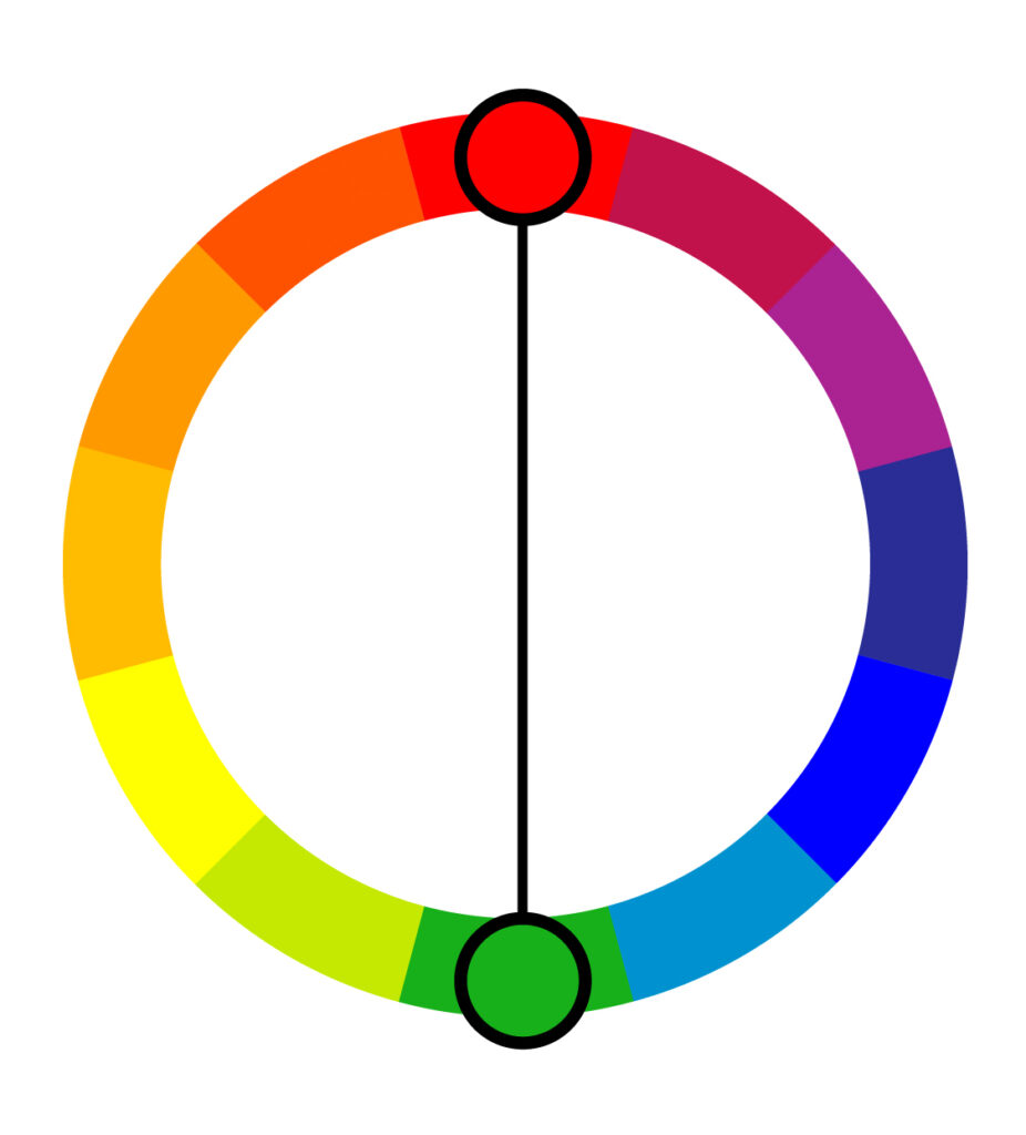 Complementary color harmony