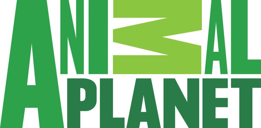 Monochromatic green Animal Planet logo