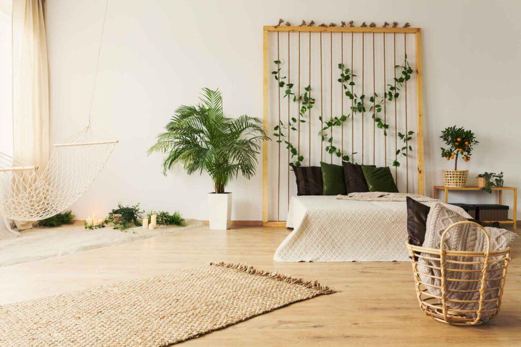 Monochromatic beige neutral living room